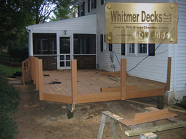 Decking-on-and-rail-post-up