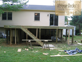Decking on and Stairs built