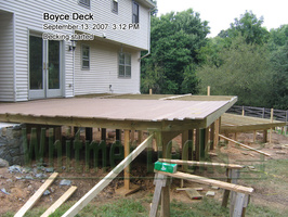 10 Decking started