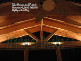 45 Night porch ceiling