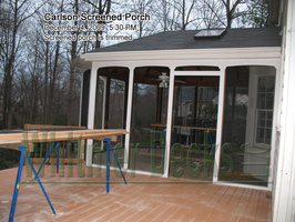 33 Screened porch is trimme