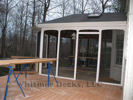 x33 Screened porch is trimme