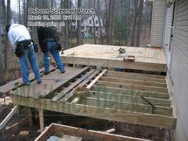 08 Decking going on