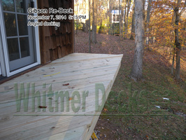 Angled decking