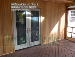 Outswing french door