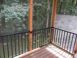 Screeend porch rail